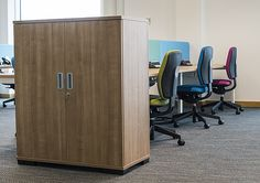Workplace storage solutions were an essential part of this project Storage Solutions, Workplace, Lockers, Locker Storage, Cabinet, Projects, Furniture, Home Decor, Clothes Stand