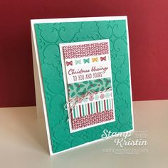 Use Washi Tape to make the focal point! Kristin Kortonick uses the Presents & Pinecones Designer Washi Tape to make a fun holiday card.