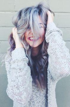 PURPLE HAIR SILVER HAIR ICY BLUE HAIR #davines #motherofpearl #pastelhair
