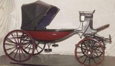 Barouche: a fashionable horse-drawn carriage in the 19th century, drawn by a pair of horses. Used primarily for leisure driving.
