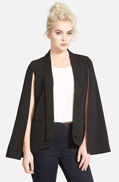 Mural Cape Blazer #black #white #cape #blazer #unique #fashion #edgy