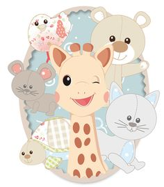 Sophie the giraffe and friends! From Vulli