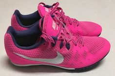 low cost 1778d 2571c Nike Zoom Rival M Track Spikes Multi Use Womens 7 Pink Blast Purple 806559- 615