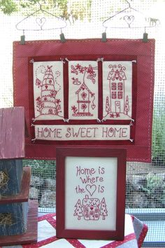Picture of Home Sweet Home RedWork