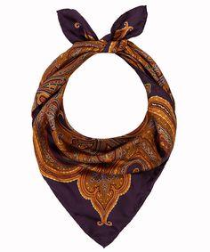 #Etro Small Burgundy Paisley Silk Scarf