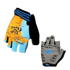 Girls' Cycling Gloves - Eforcrazy Cycling Gloves Bicycle Gel Half Finger Gloves Antislip Finger Gloves For Mountain Bike Road Bike ** See this great product.