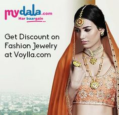 Buy Fashion Jewelry from leading online jewellery store Voylla.com. You find there  wide range of designer jewelry for women, Men and Kid as well discount coupons, vouchers , deals for jewelry at mydala.com. So grab a deal on this women'd day special and shop designer jewelry from Voylla.com.