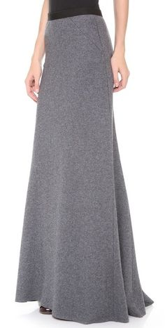 LA't by L'AGENCE Long Skirt / Wool blend, easy to dress up & good for workplace / A-line style is my friend Modest Wear, Modest Outfits, Skirt Outfits, Modest Fashion, Skirt Fashion, Hijab Fashion, Dress Skirt, Dress Up, Fashion Outfits