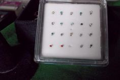 stainless steel gem stud nose ring