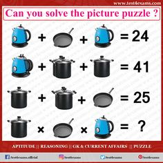 Can you solve the picture puzzle ? Get more brain teaser puzzle, number puzzle, alphabet puzzle and picture puzzle on Test 4 Exams. Picture Puzzles Brain Teasers, Math Puzzles Brain Teasers, Number Puzzles, Logic Puzzles, Aptitude And Reasoning, Brain Teasers With Answers, Fun Brain, Math Challenge, Math Questions