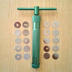 높은 품질 녹색 점토 압출기 조각 총 점토 설탕 페이스트 압출기 퐁당 케이크 조각 폴리머 총 도구