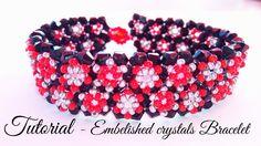 Embellished crystals bracelet - tutorial