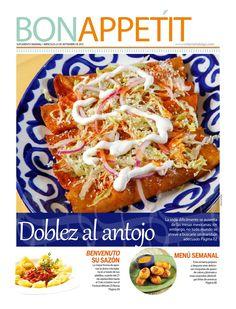Suplemento Bon Appetit de Criterio Hidalgo Bon Appetit, Chicken, Meat, Books, Weekly Menu, Journals, Libros, Book