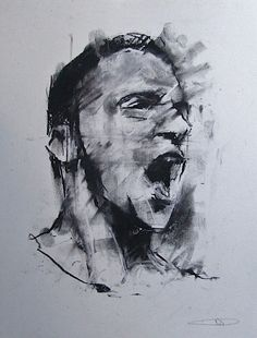 Guy Denning (English self taught contemporary artist/painter based in France. He is the founder of The Neomodern Group and part of the urban art scene in Bristol. Life Drawing, Drawing Sketches, Painting & Drawing, Photographie Portrait Inspiration, Art Therapy Projects, Famous Art, Human Art, Watercolor Portraits, Painting Inspiration