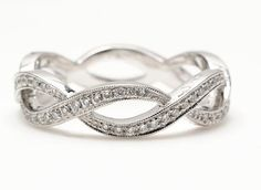 solitaire engagement ring with infinity wedding band - Google Search