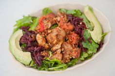 Lunch today: Paleo and Gluten Free Turkey Meatball Kale Salad…warm meatballs in a light and easy homemade mushroom and heirloom tomato sauce, on top of crisp balsamicy kale! It's the boyfriend's favorite thing I make, s...