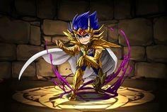 Cavaleiro de ouro - Máscara da Morte de Câncer - versão chibi