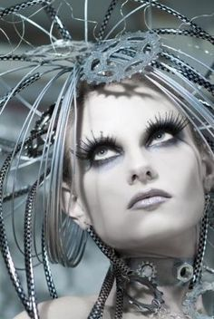 75c4f538c57 Industrial Jewelry, Industrial Style, Metal Jewellery, Make Up, Glamour,  Futuristic Costume