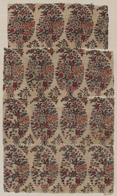 Fragments of shawl border Indian (Kashmiri), 18th or early 19th century
