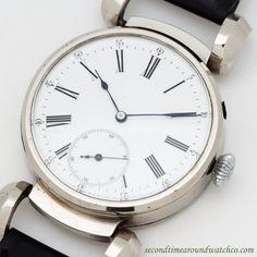 1908 Vintage Vacheron Constantin Pocket Watch Conversion Stainless Steel Watch