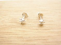 5 mm Small  Coral  Post Stud Earrings.92.5% Sterling Silver. Cartilage Piercing/Earrings.Natural Inspire design.Gift under 10 by BelovedBijoux on Etsy