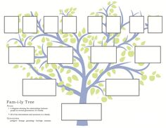 family tree printable - Google Search