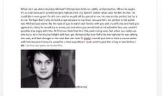 Omg this is so speciall..and truee.. I love you mikey.. ♥♥