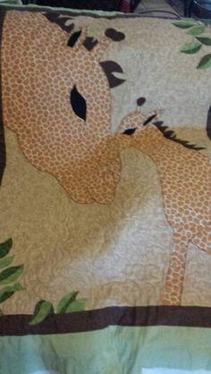 Giraffe quilt made for a friend.
