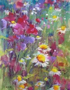 """""""New Wildflower Painting with Demo"""" - Original Fine Art for Sale - © Karen Margulis"""