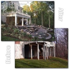 Sloped Backyard Before And After