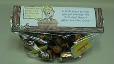 Back to school bag topper with treats