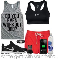 """""""At the gym with your friend."""" by welove1 on Polyvore"""