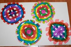 Faux Tie Dye Coffee Filter Snowflakes -  Pinned by @PediaStaff – Please Visit http://ht.ly/63sNt for all our pediatric therapy pins