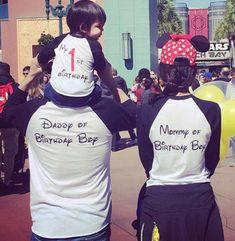 Personalized custom disney shirts, Spread Ink Disney Family Outfits, Disney Shirts For Family, Family Shirts, Kids Shirts, Disneyland Trip, Disney Vacations, Disney Trips, Disney Birthday Shirt, Birthday Shirts