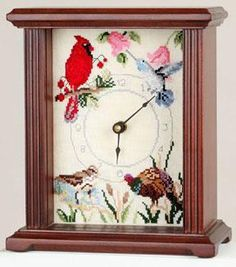 """Sudberry House Mahogany Petite Mantel Clock 5""""x7"""". Includes quartz movement, hands, mounting board, and glass. Solid hardwood with a mahogany finish. 7"""