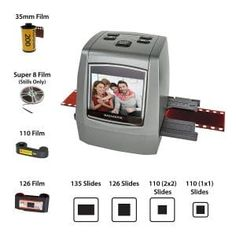Magnasonic All-in-One High Resolution Film Scanner, Converts Complicated Image, Digital Scanner, Mobile Film, Super 8 Film, Top Film, Photo Printer, On Today, 35mm Film, All In One