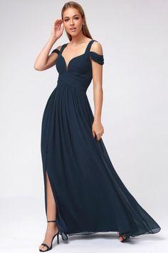7597ab1a48e Ocean of Elegance Navy Blue Maxi Dress. Bridesmaid DressesProm Dresses Wedding DressesBridesmaidsBall ...