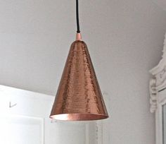 hammered copper pendant light by the forest & co   notonthehighstreet.com $ 97.42