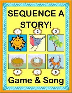 """Play a funny GROUP GAME with the Sun, a Bird, a Tree, some Eggs . . . and one Very Sneaky Cat! SONG DIRECTIONS to """"The Green Grass Grew All Around"""" (a great American Folk Tune) are included-- no music skills needed! Tell a CUMULATIVE STORY where each verse builds on the one before. SIX STORY TEMPLATES follow the story sequence. (13 pages) From Joyful Noises Express TpT! $"""