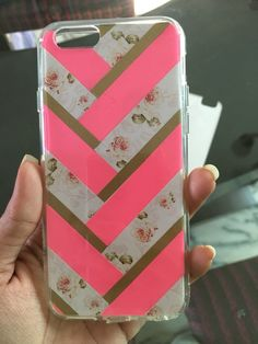 DIY phone case using #washi tape and #scarpbook paper #Ringke Fusion case (Transparent Case)