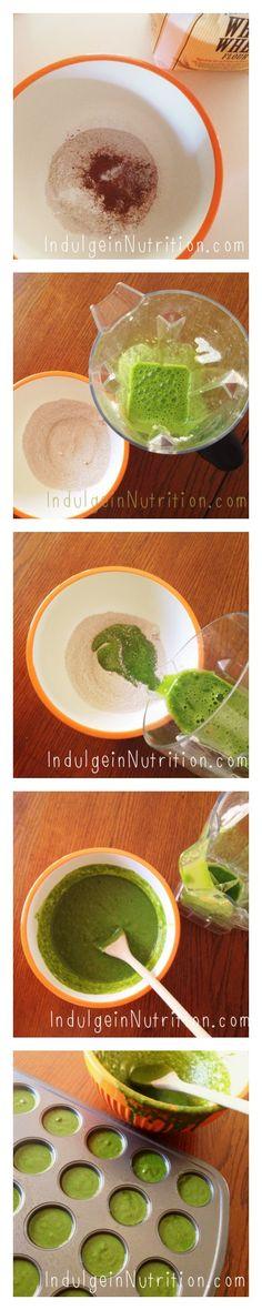INDULGE in Nutrition – Honey Gone Green Muffins #healthysnacks #healthymuffins