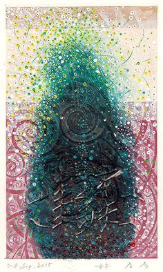 D-8.Sep.2015 mixed media painting on paper HAYASHI Takahiko 林孝彦