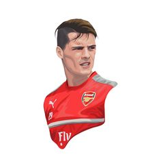 open commission contact for work line id : hk.777 e-mail : h.santima@gmail.com or direct message , comment Granit Xhaka, Football Is Life, My Drawings, Ronald Mcdonald, Tumblr, Illustrations, Fictional Characters, Football Soccer, Illustration