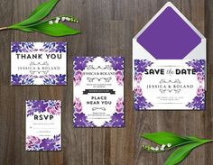 Watercolor Flower Wedding Suite @creativework247