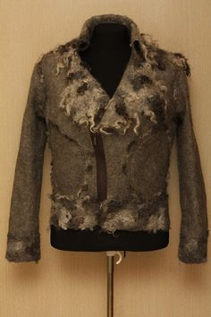 A wolf in sheep's clothing / Men's Felted Jacket. $600.00, via Etsy.