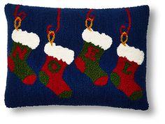 NOEL Stockings 12x16 Pillow, Multi | 'Tis the Season | One Kings Lane