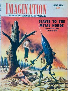 The first Pulp magazine to offer robot stories was not a purely Science Fiction mag but Weird Tales, which featured the first robotic brain, giant robots and robot despots in Edmond Hamilton'… Science Fiction Kunst, Science Fiction Magazines, Sci Fi Kunst, Classic Sci Fi, Pulp Magazine, Sci Fi Books, To Infinity And Beyond, Pulp Art, Sci Fi Fantasy