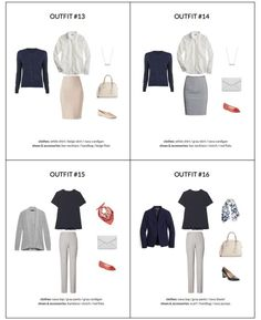 Workwear Capsule Wardrobe - Spring 2018 - Outfit Ideas page