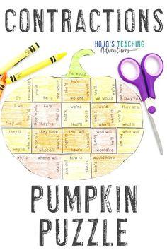 Take at look at these CONTRACTIONS pumpkin literacy activities. They are great for the fall or autumn months of September, October, or November. They also work well for review during Halloween or Thanksgiving. They're a great alternative to Halloween activities. Grab your set today for your elementary classroom or homeschool kids! Basic English language arts review in centers or stations is easy! (2nd, 3rd, 4th grade approved!) #Elementary #FallLiteracy #PumpkinActivities Spelling Activities, Art Activities For Kids, Literacy Activities, Halloween Activities, Rounding Activities, Upper Elementary Resources, Elementary Education, 4th Grade Classroom, Classroom Crafts
