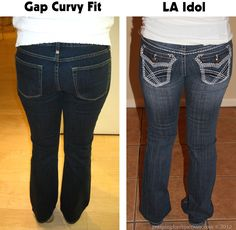 This one girl, all in the same day, goes to various stores and gives many interesting tips on getting the right kind of jeans for your body type, the right cut, style, etc. Her favorite brands of jeans are 7 For All Mankind, Citizens of Humanity, Hudson, and Rock and Republic.